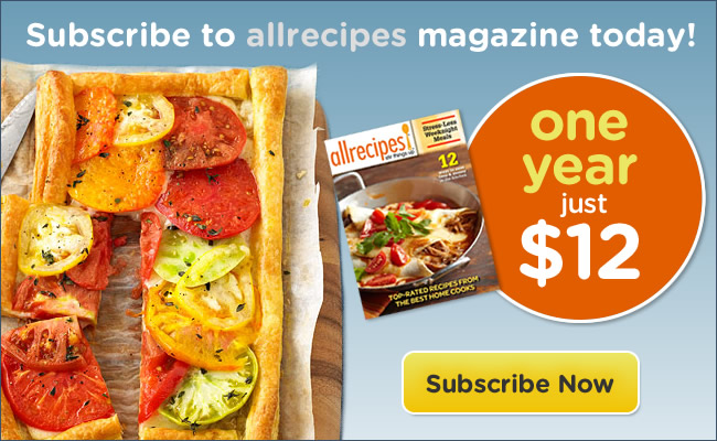 Subscribe to allrecipes magazine today!